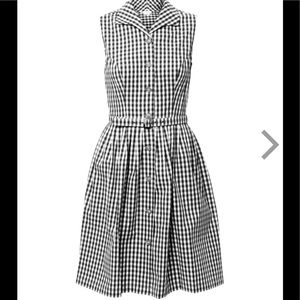 Gingham print dress, medium